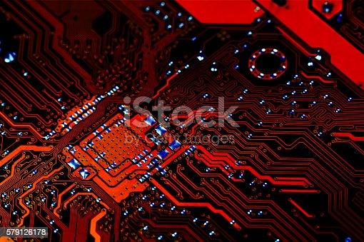 istock Electronic circuit board 579126178