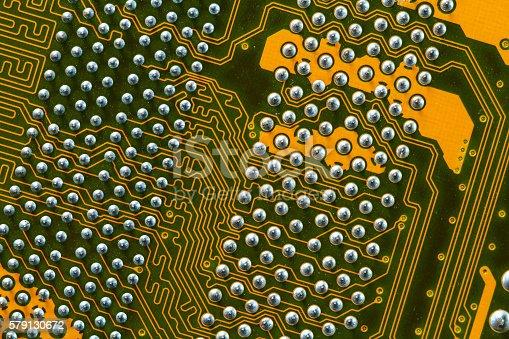 istock Electronic circuit board 579130672