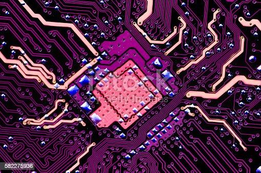 istock Electronic circuit board 582275936