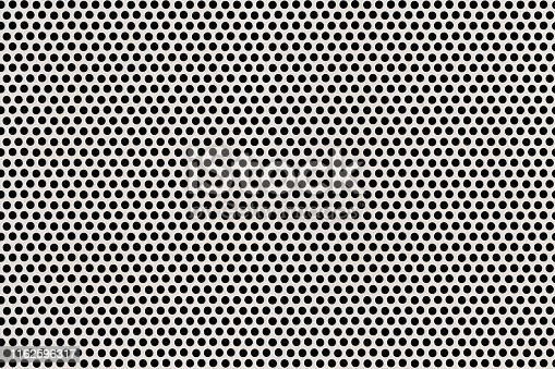 istock Electronic Circuit Board Protective Perforated Metal Cover Detail Black and White Background 1162596317