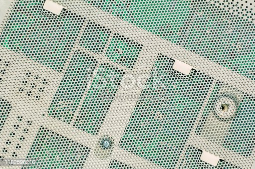 istock Electronic Circuit Board Protective Perforated Metal Cover 1162596216