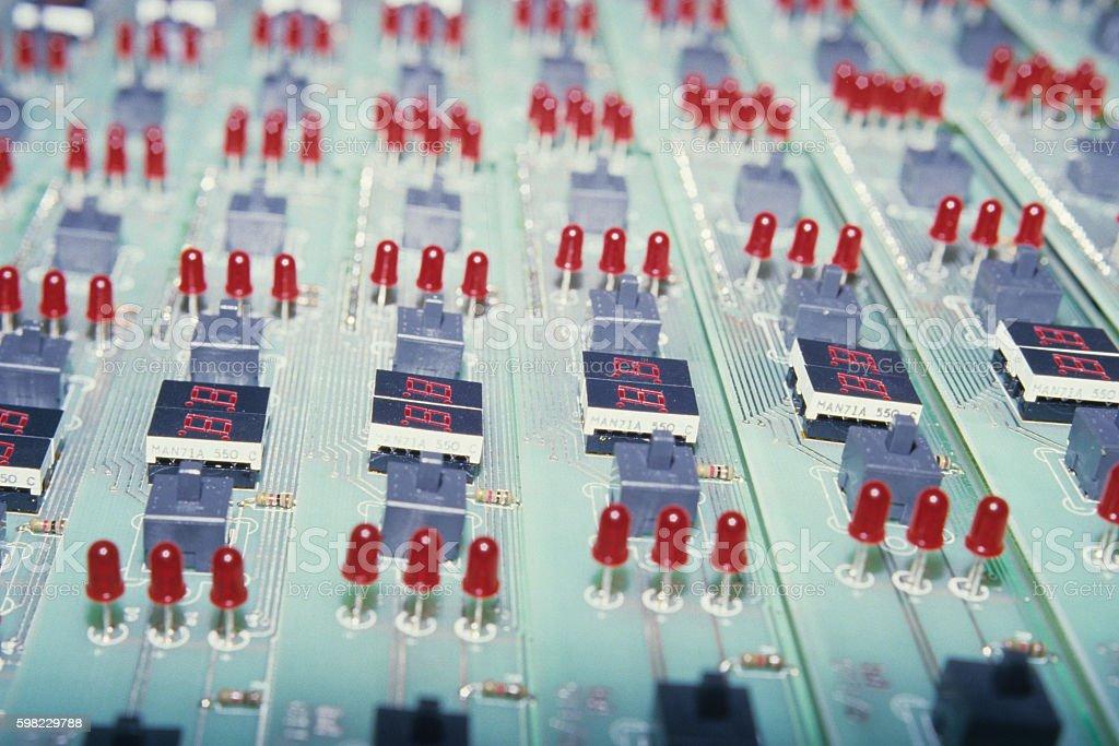Painéis de circuito eletrônico foto royalty-free