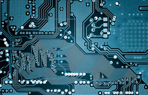 circuito elettronici - scheda a circuito foto e immagini stock