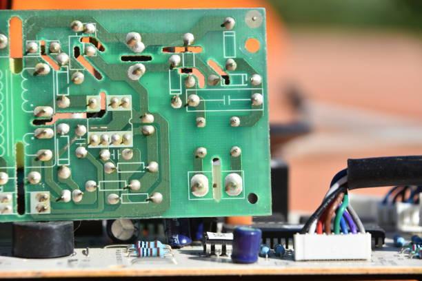 Electronic circuits stock photo