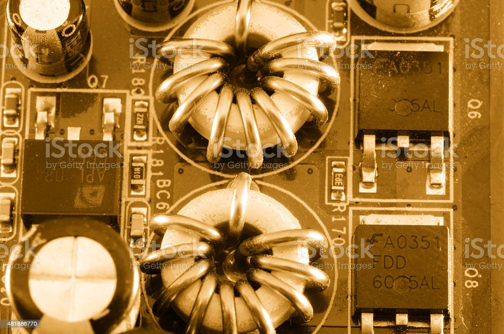 Electronic Coil stock photo