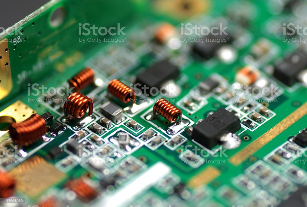 electronic components and devices stock photo