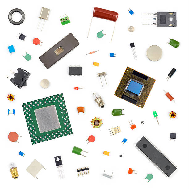 electronic components - capacitor stock photos and pictures