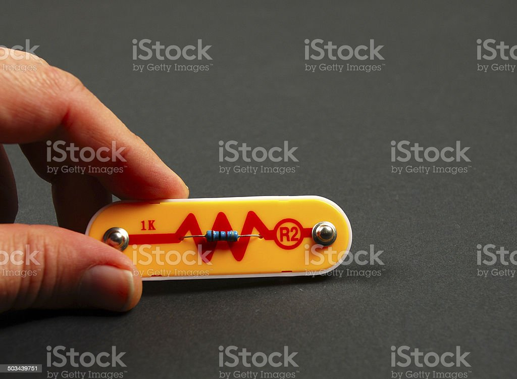electronic components stock photo