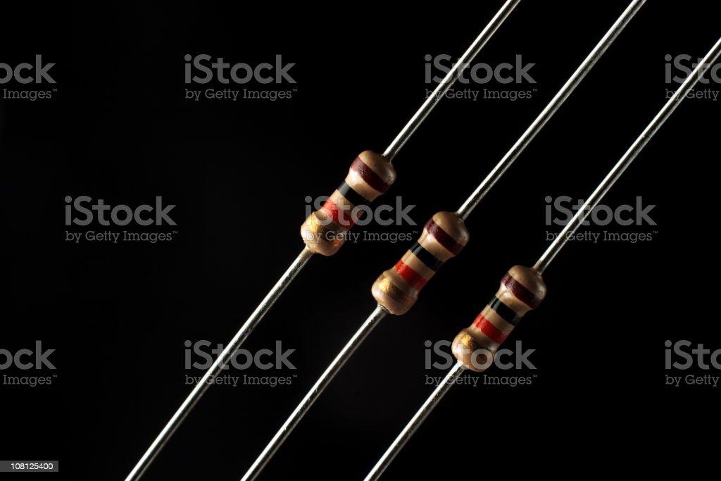 Electronic components: resistors stock photo