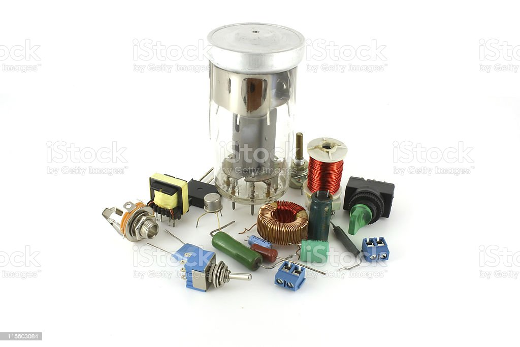Electronic components with radio valve royalty-free stock photo