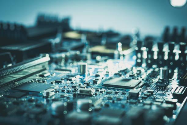 電子計算機ハードウェア マザーボード pc 技術コンセプト回路基板設計業界と技術者の背景 - 半導体 ストックフォトと画像