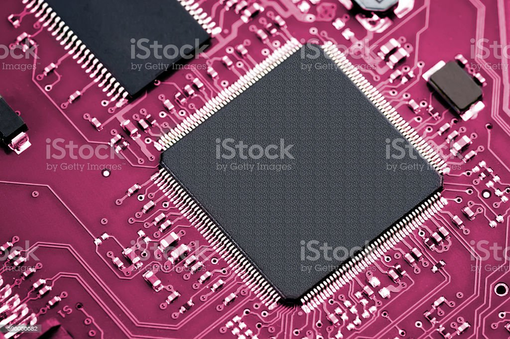 Electronic computer hardware technology royalty-free stock photo