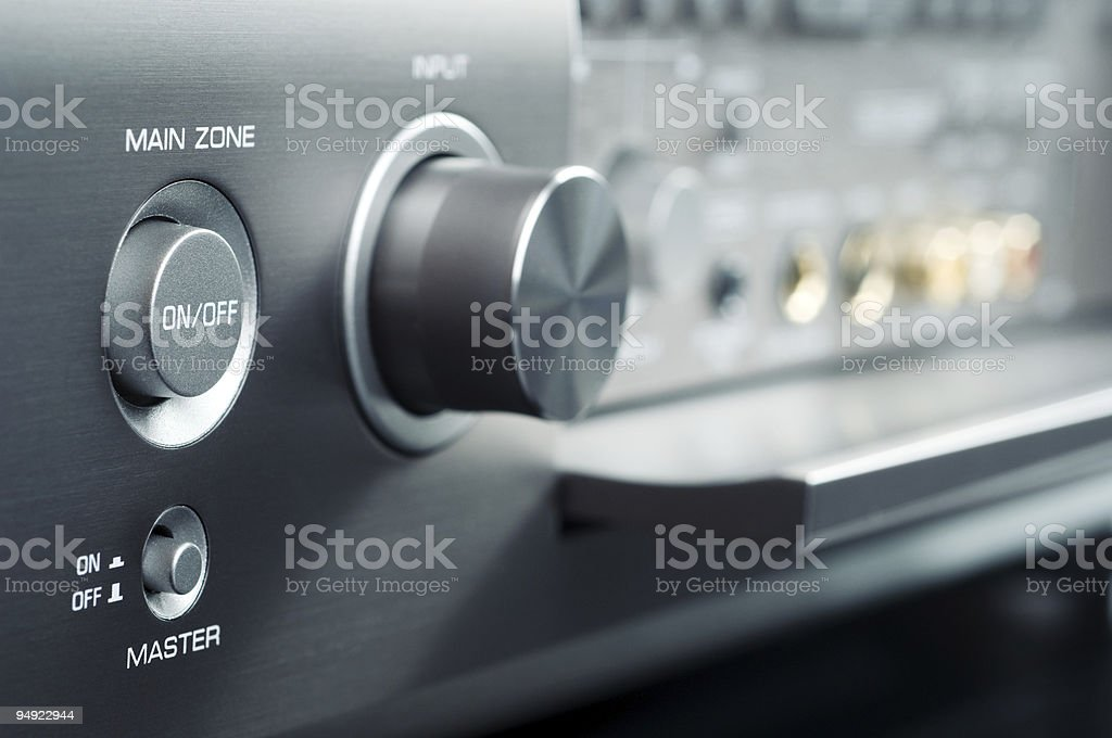 Electronic controls to power device on and off stock photo
