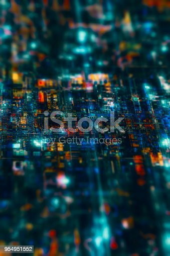istock Electronic cpu or circuit board backgrounds 954951552
