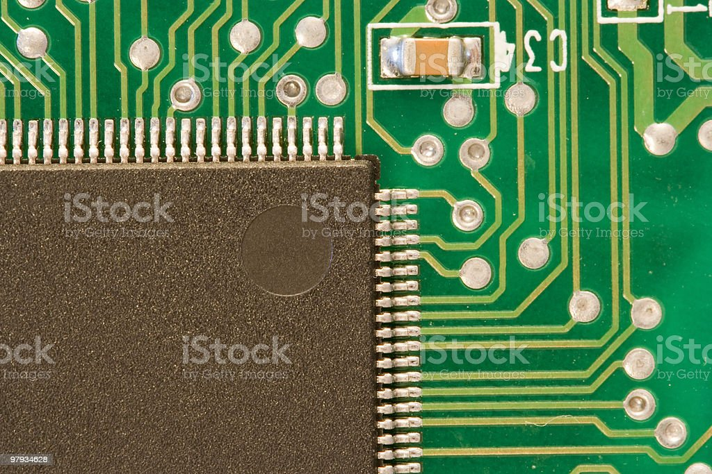 electronic cuircuit board royalty-free stock photo