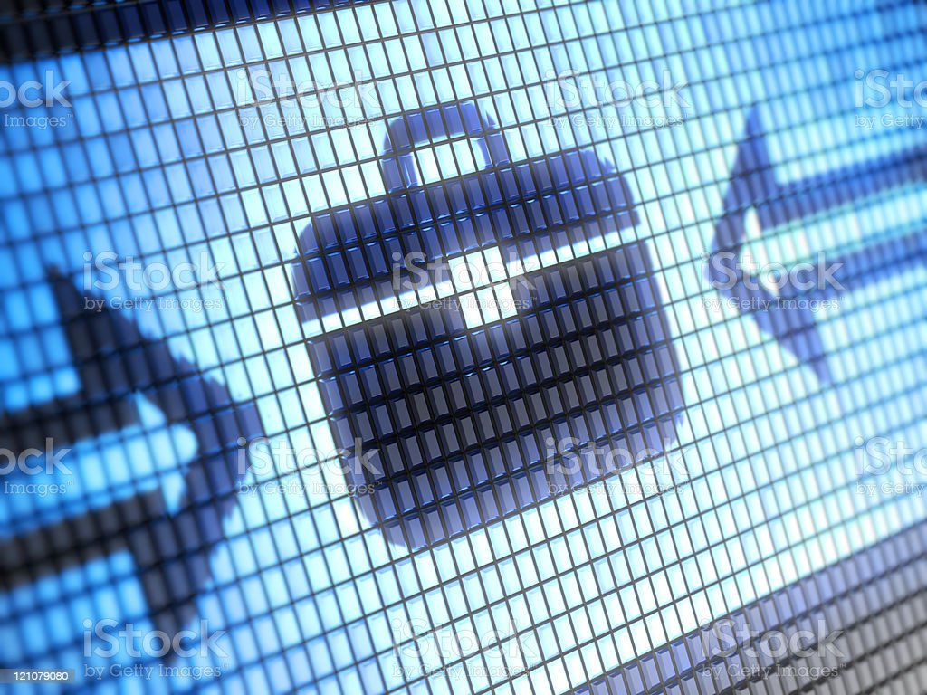 Electronic design of a briefcase icon royalty-free stock photo