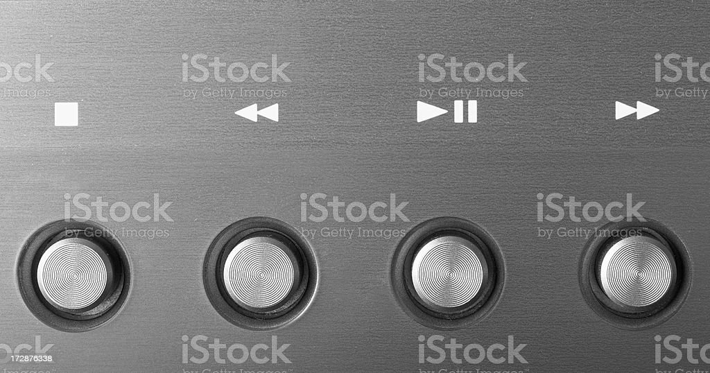 Electronic device buttons stock photo