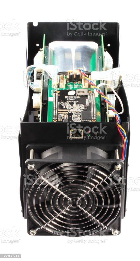 electronic device isolated on white background stock photo