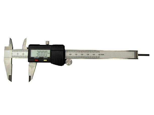 Calibre de pie de rey digital electrónico mm milímetros - foto de stock
