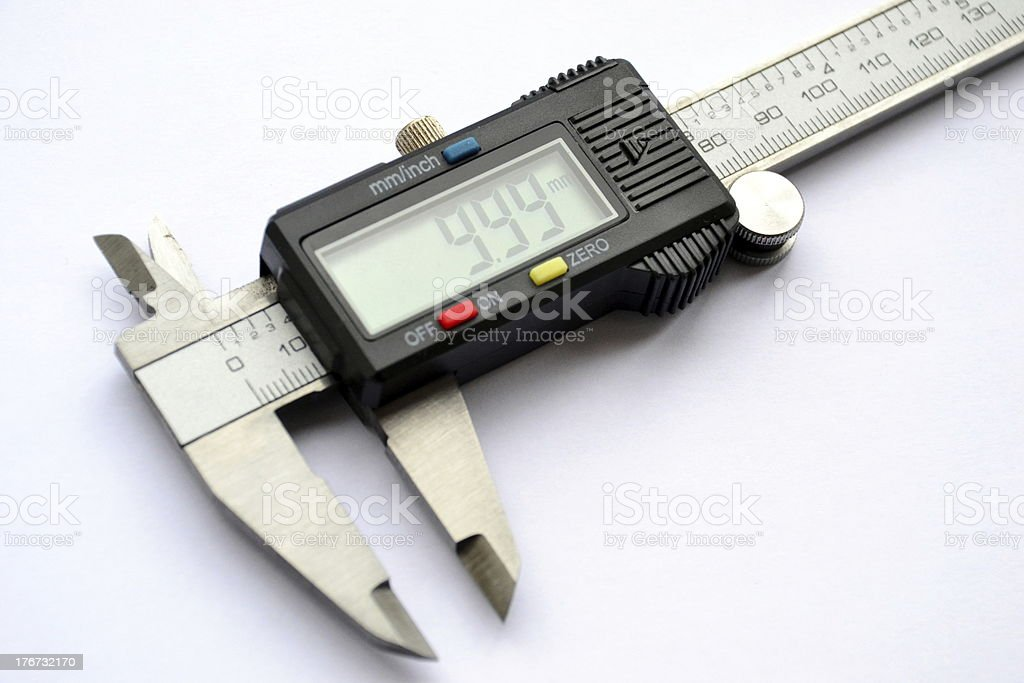 Electronic digital caliper royalty-free stock photo