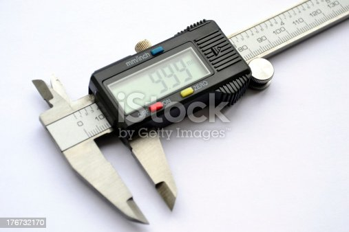 istock Electronic digital caliper 176732170