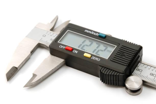 Electronic digital caliper stock photo