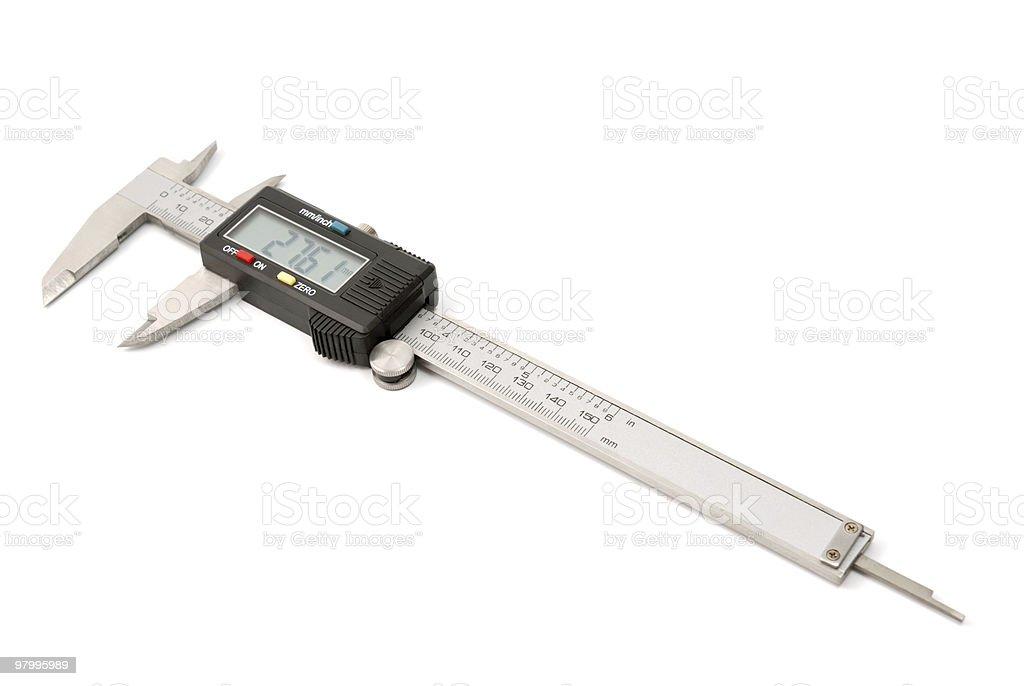 Electronic digital caliper royalty free stockfoto