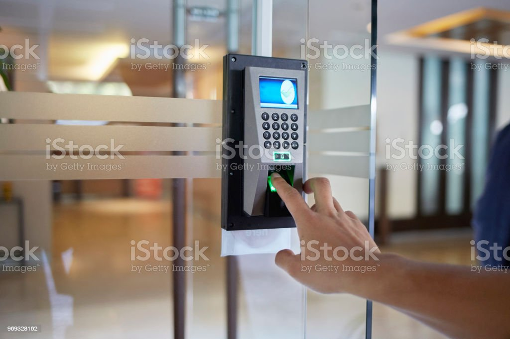 Electronic door  control device royalty-free stock photo