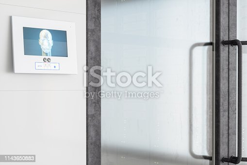 896596886 istock photo Electronic door control device with Facial Recognition Technology 1143650883
