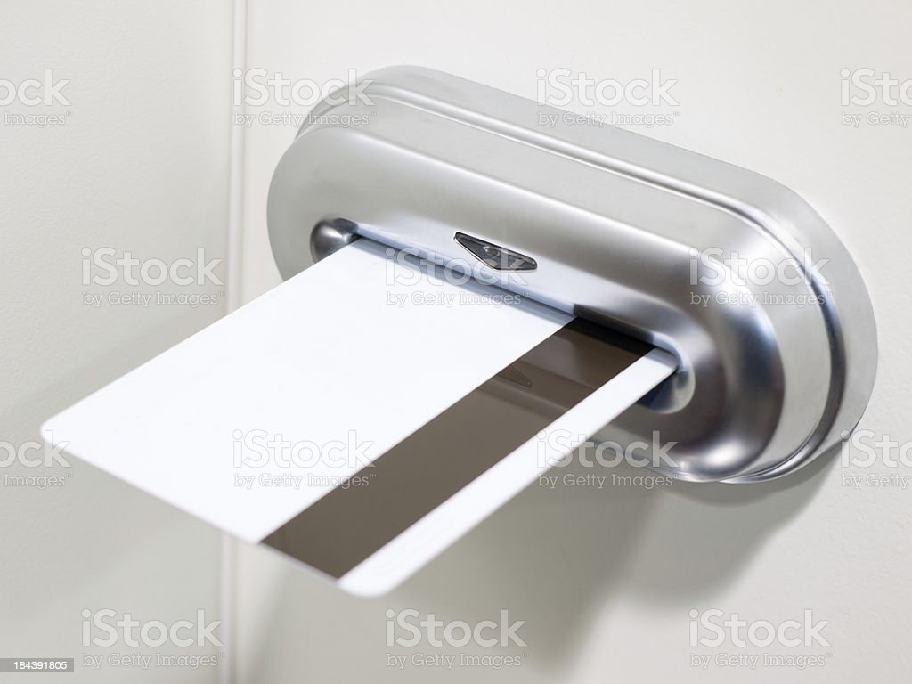 Electronic Door Lock with Card Key royalty-free stock photo