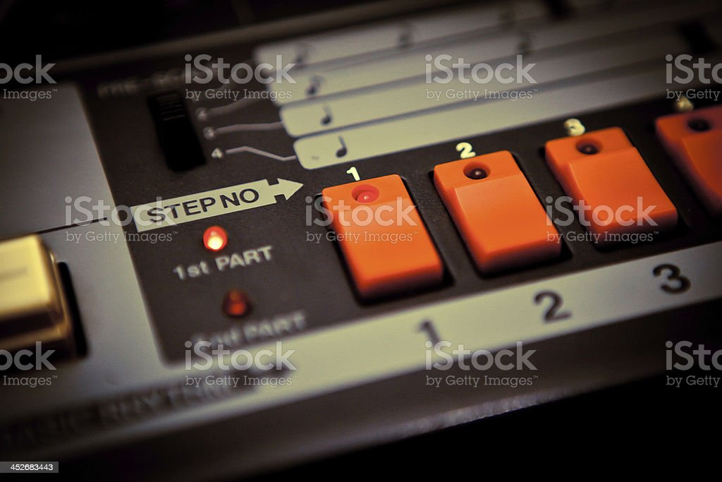 electronic drums machine stock photo