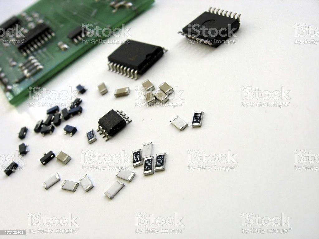 electronic elements stock photo