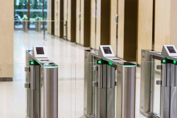 Electronic Entrance gate card. stock photo