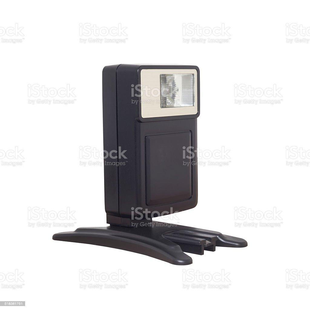Electronic flashlight stock photo