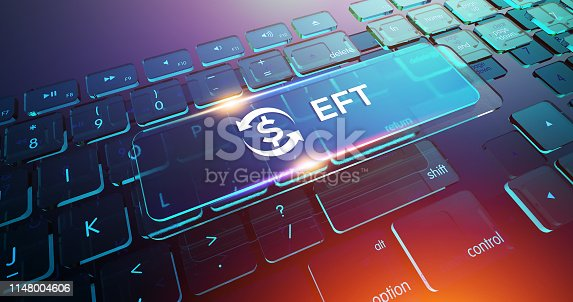 Electronic Funds Transfer EFT Button on Computer Keyboard