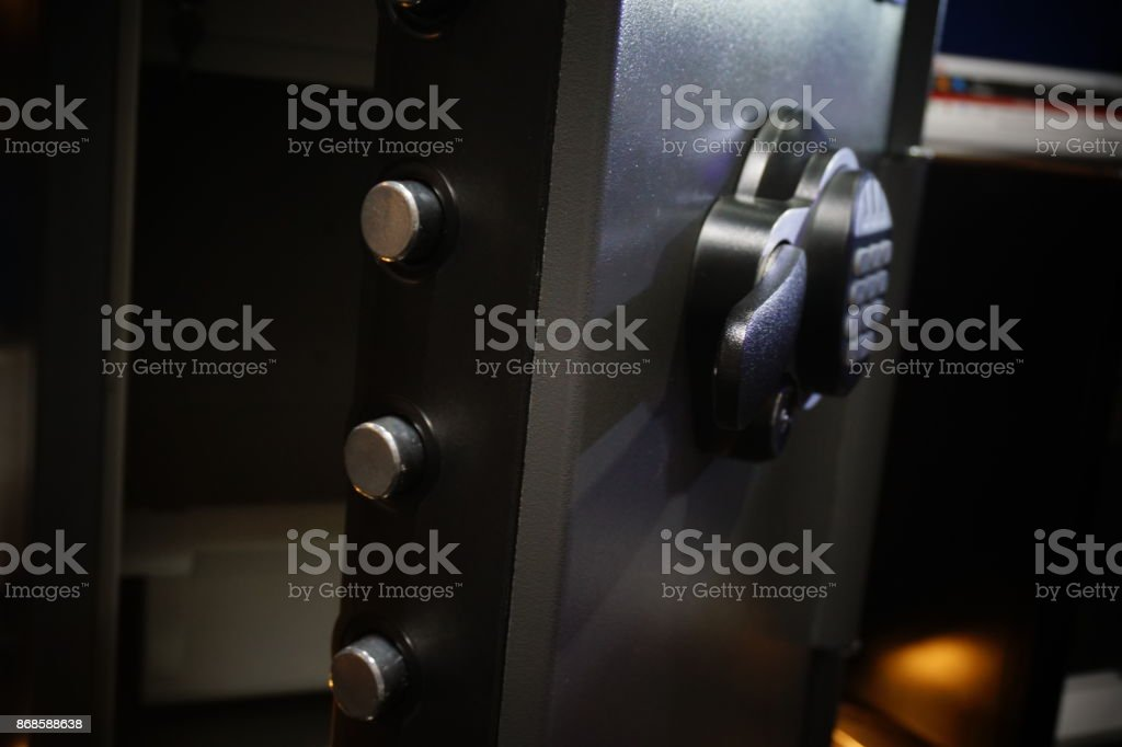 Electronic home safe stock photo