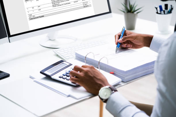 Electronic Invoice And E Receipt stock photo
