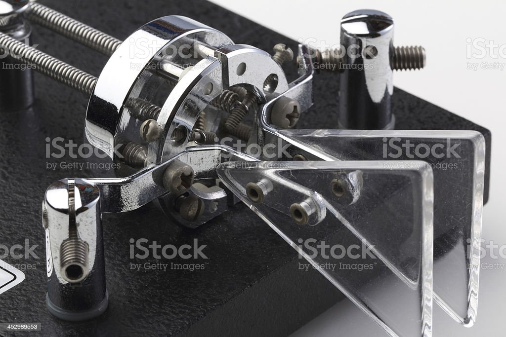 Electronic Key for Amateur Radio Morse Coding stock photo