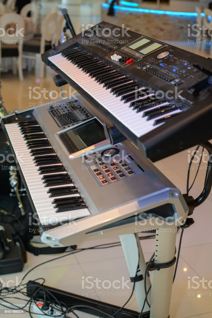 Electronic Keyboards (Synthesizer) stock photo