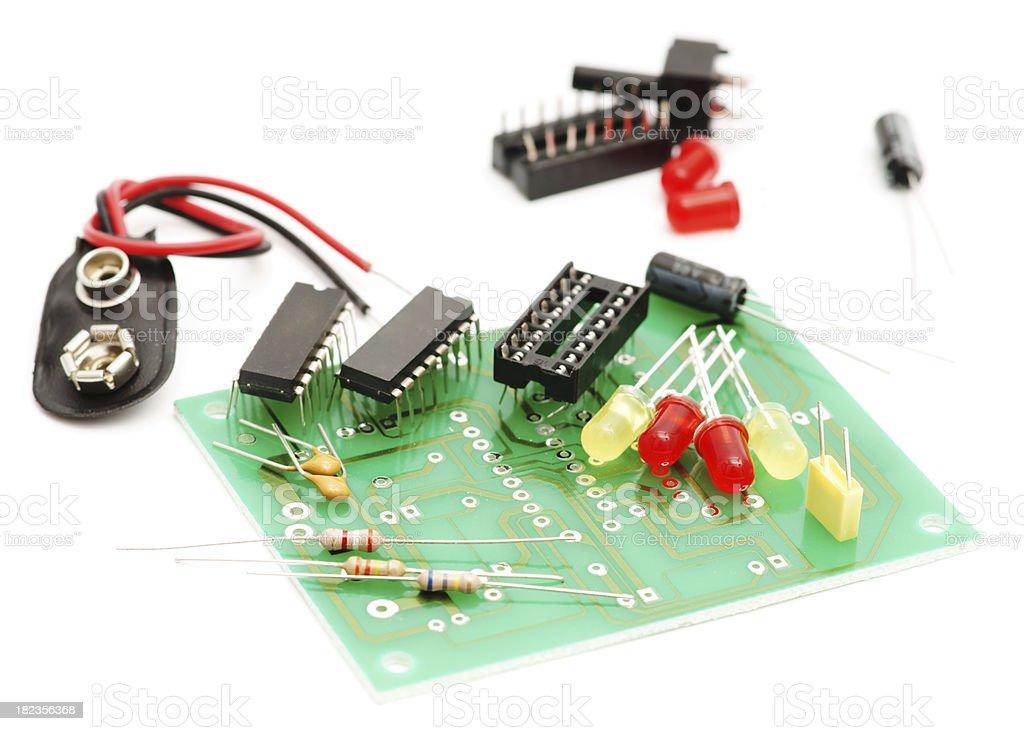 Electronic kit isolated on white royalty-free stock photo