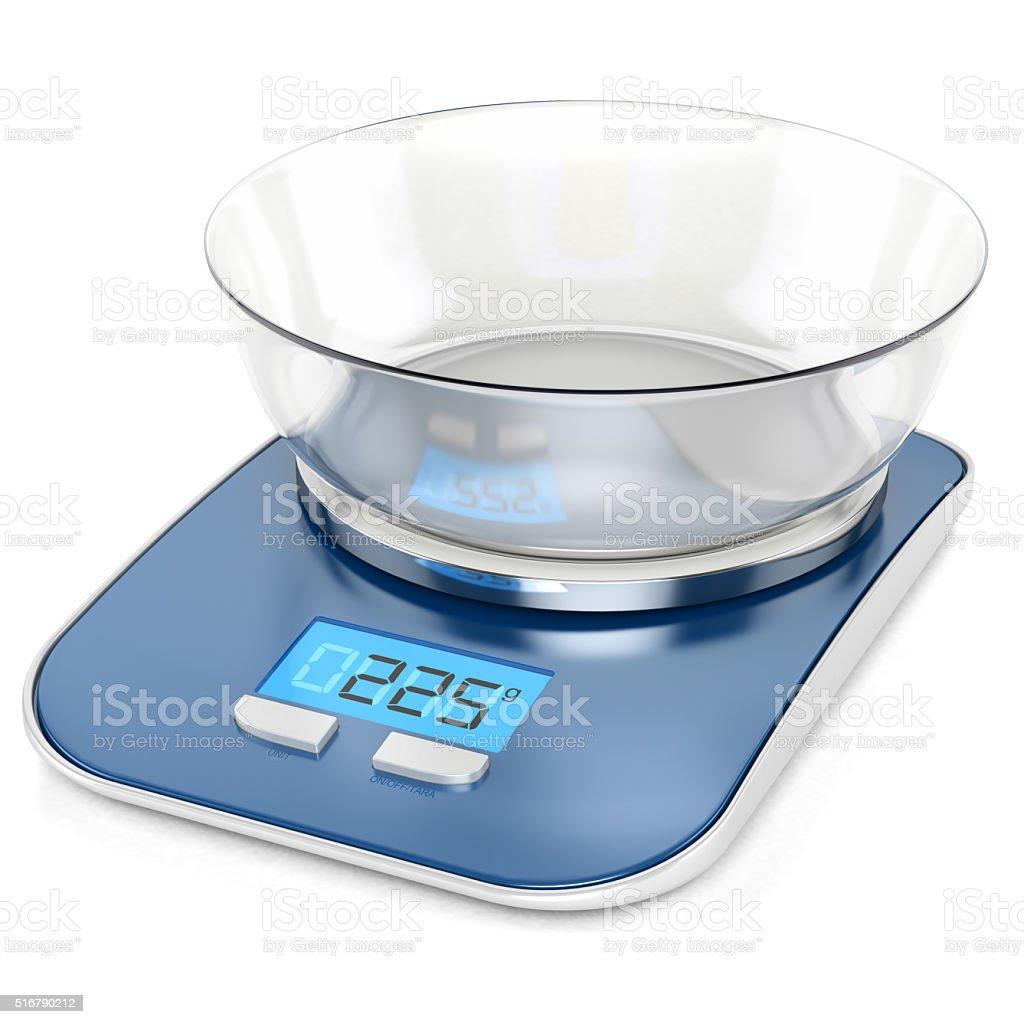 Balanza electrónica cocina - foto de stock