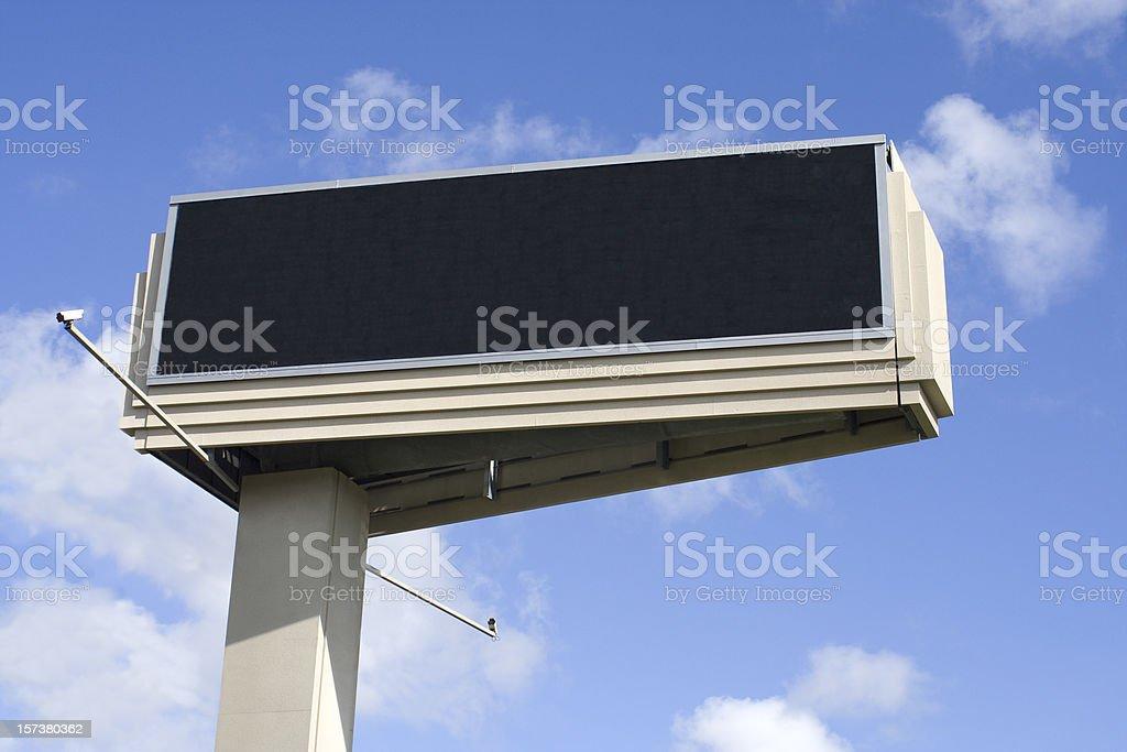 Electronic LED Billboard stock photo