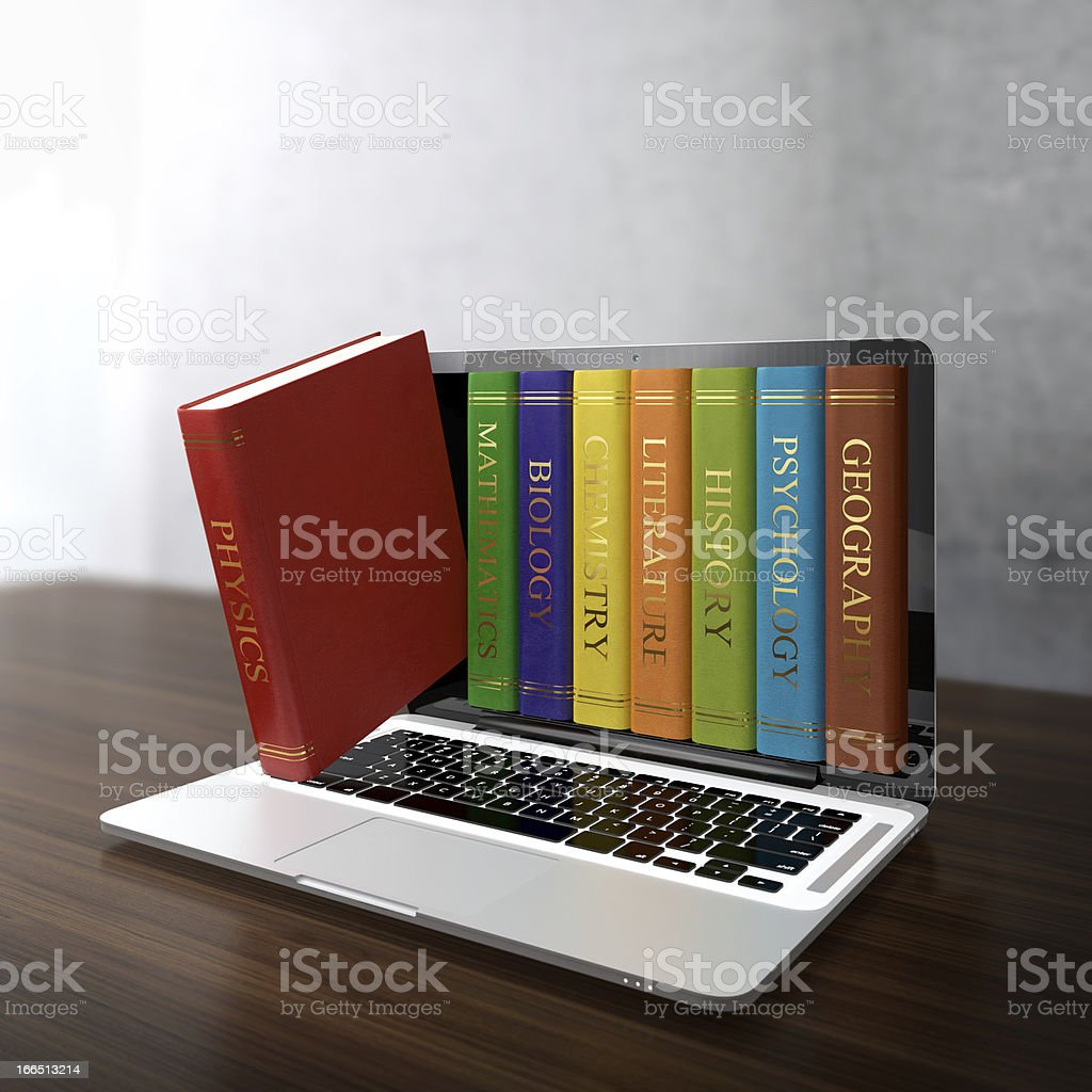 Electronic library royalty-free stock photo