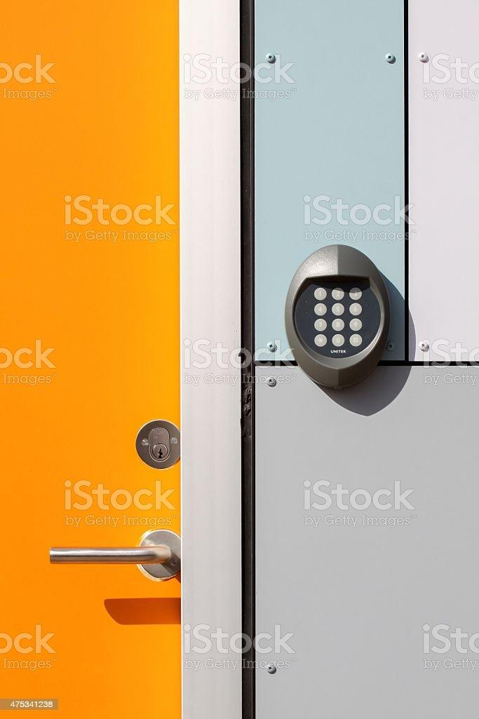 Electronic lock door stock photo