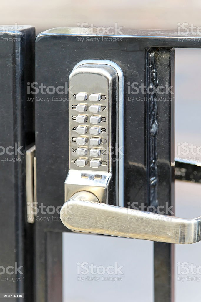 Electronic lock stock photo
