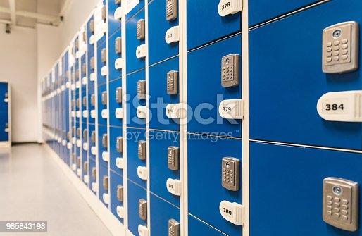 istock Electronic locks Locker 985843198