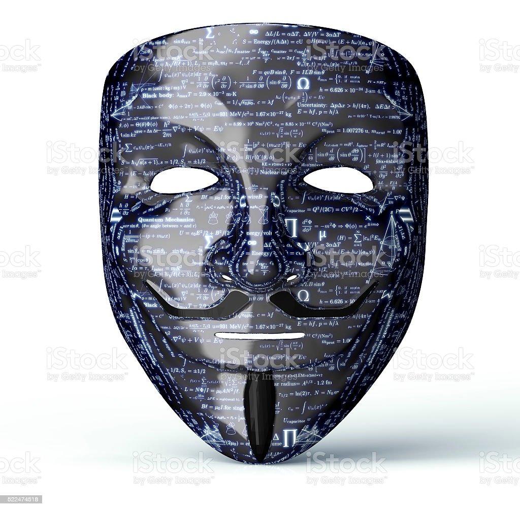 Elektronische Maske aus dem Computer Hacker – Foto