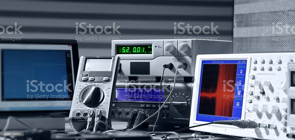 electronic measuring instruments royalty-free stock photo