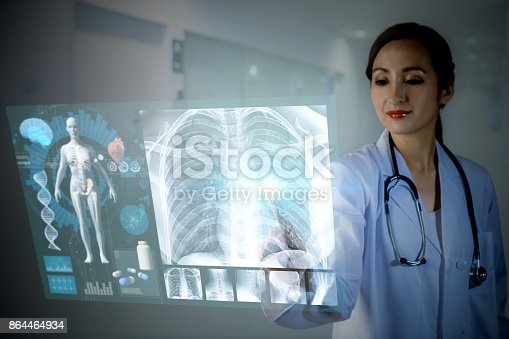 istock electronic medical record concept. medical technology. 864464934