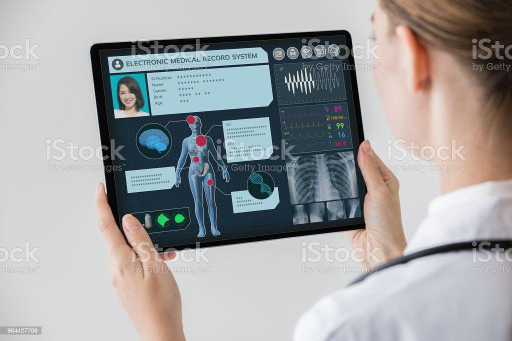 Elektronische medizinische Aufzeichnung Konzept. - Lizenzfrei Gesundheitswesen und Medizin Stock-Foto